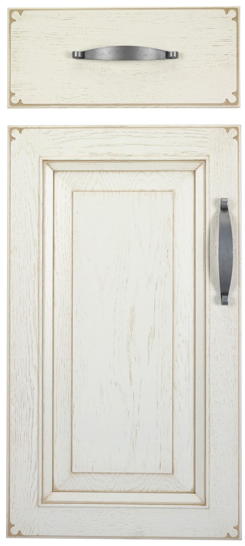 Puerta de cocina de madera. Modelo Sintra. Madera: roble y castaño. Color 351 patinado marrón
